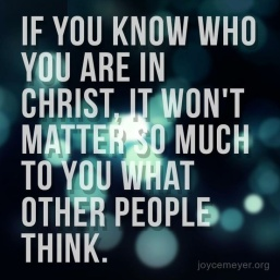 Knowing who you are in Christ